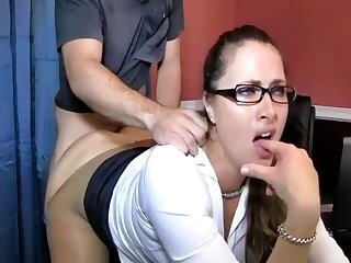 Stepson Rips Her Pantyhose And Takes Her..