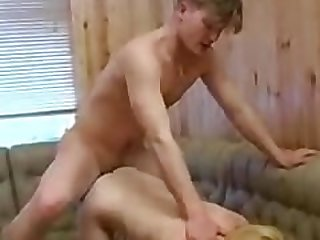 Mom boy drink then fuck doggy style