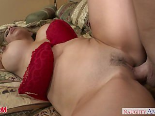 Horny MILF Mia Ryder takes her son's..
